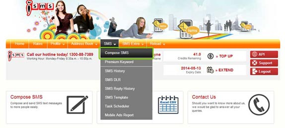 how to send bulk sms from yahoo mail
